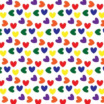 Seamless pattern with hearts in lgbt colors lgbt pattern