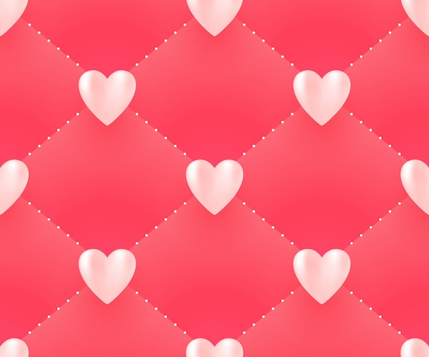 Seamless pattern with hearts for valentine day.