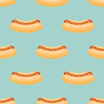 Безшовная картина с хот-догом.