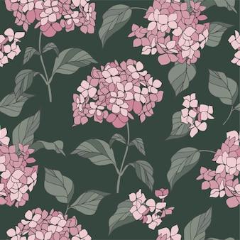 수 국 꽃 꽃 화 환 꽃으로 완벽 한 패턴