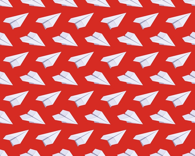 Seamless pattern with isometric paper planes