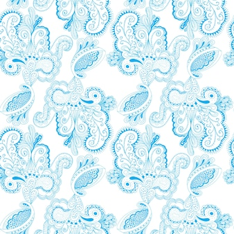 Seamless pattern with lacy arabesque designs