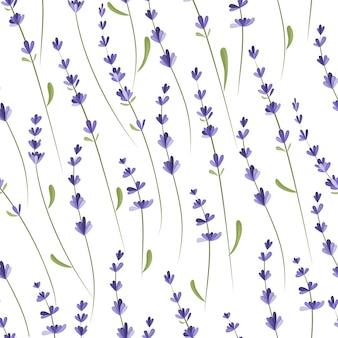 라벤더 가지와 함께 완벽 한 패턴