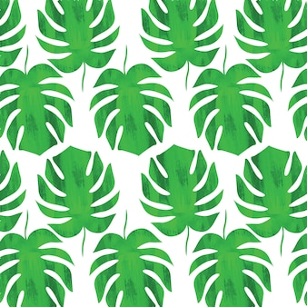 Seamless pattern with leaves leaf