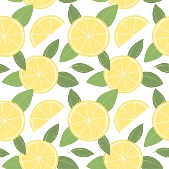 Seamless pattern with lemons bright pattern for wallpaper fabric and paper vector