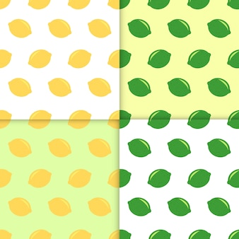 Seamless pattern with lemons and limes. doodle wallpaper vector. colorful seamless pattern with fresh fruits collection. decorative illustration, good for printing