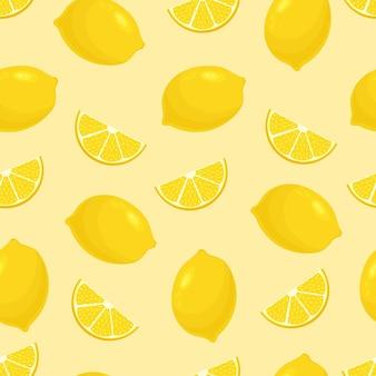 Бесшовный фон с лимонами