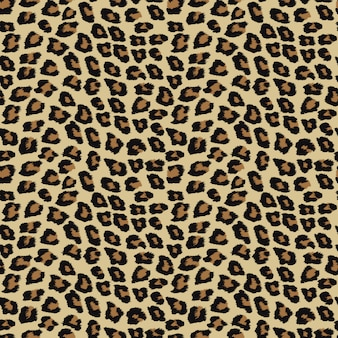 Seamless pattern with leopard skin.