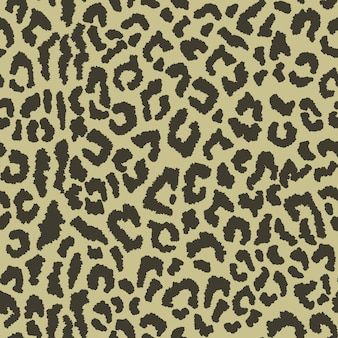 Seamless pattern with leopard spots