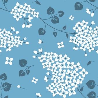 라일락 꽃과 완벽 한 패턴
