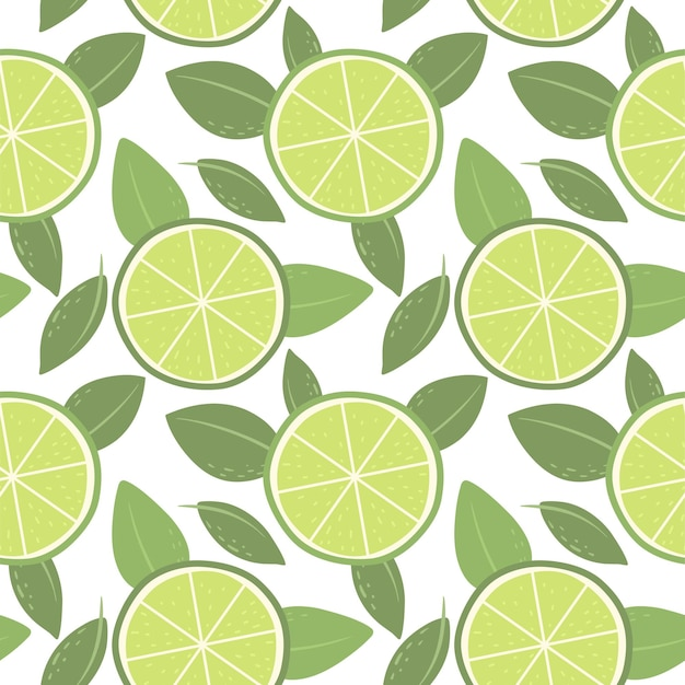 Seamless pattern with limes bright pattern for wallpaper fabric and paper vector