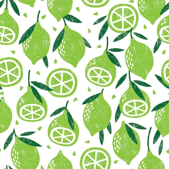 Seamless pattern with limes.