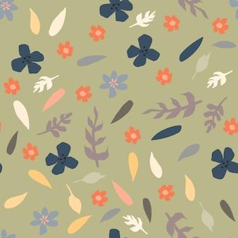 小さな花とのシームレスなパターン。テキスタイル、ラッピング、壁紙のコンセプト