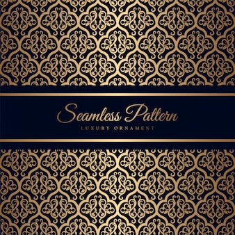 Seamless pattern with luxury ornament