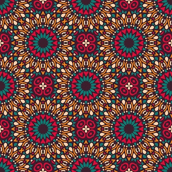 Seamless pattern with mandala