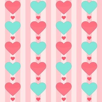 Бесшовный фон с множеством сердец на розовом. векторная иллюстрация