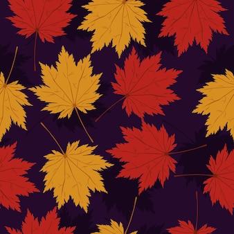 단풍 잎과 완벽 한 패턴