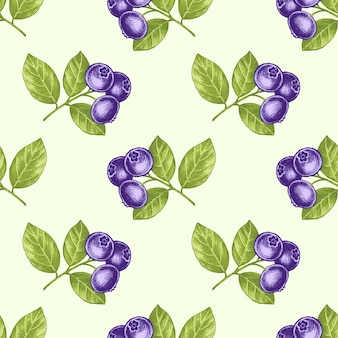 Seamless pattern with medical plants