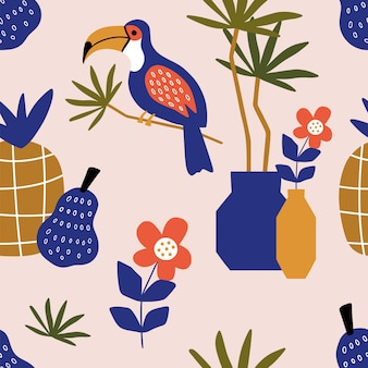 Seamless pattern with moroccan elements.