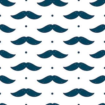 Seamless pattern with moustache for father's day