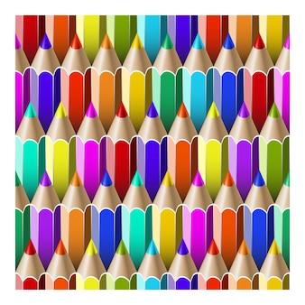 Бесшовный фон с разноцветными карандашами.