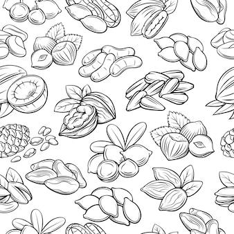 견과류와 씨앗으로 완벽 한 패턴입니다.