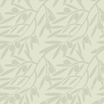 Seamless pattern with olive branches.