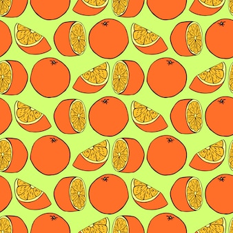 Seamless pattern with oranges. vector seamless texture for wallpapers, pattern fills