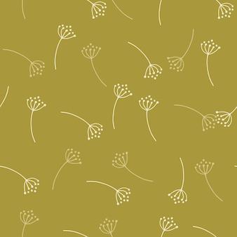 개요 민들레 꽃으로 완벽 한 패턴입니다.