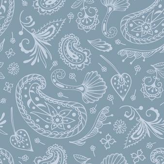 ペイズリーと東洋のモチーフのシームレスパターン