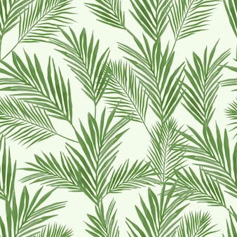 Seamless pattern with palm leaf