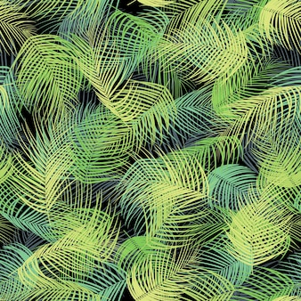 Seamless pattern with palm leaves background