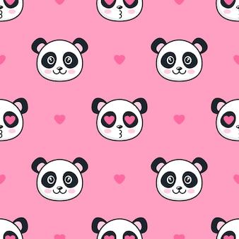 Бесшовный фон с панда