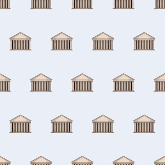 Seamless pattern with pantheon. endless background. good for postcards, prints, wrapping paper and backgrounds. vector.