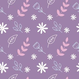 나뭇가지와 식물의 패턴으로 완벽 한 패턴입니다. 직물, 직물 및 포장지에 인쇄하기 위한 끝없는 배경.