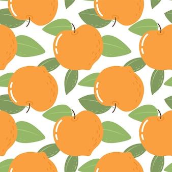 桃とのシームレスなパターン壁紙生地と紙のベクトルの明るいパターン