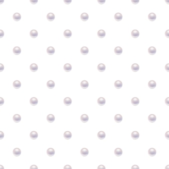 Seamless pattern with pearls