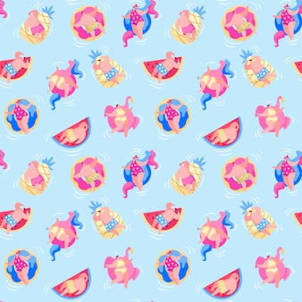 Seamless pattern with people have fun