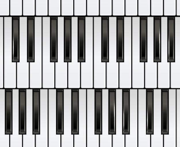 피아노 키보드와 완벽 한 패턴