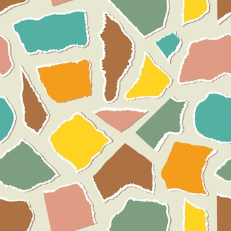 Seamless pattern with pieceis of paper