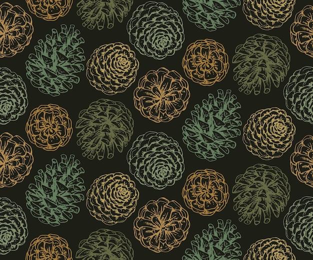 소나무 콘 및 분기 원활한 패턴