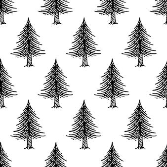 松の木とのシームレスなパターン