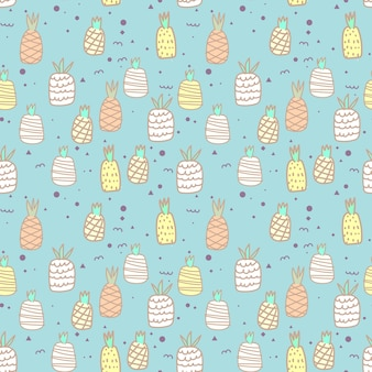 Seamless pattern with pineapple. vector illustrations for gift wrap design.