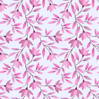 Бесшовный фон с дизайном розовые цветы.