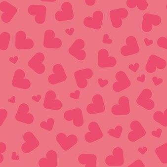 핑크 하트와 함께 완벽 한 패턴
