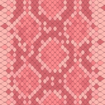 Seamless pattern with pink python print