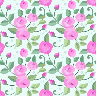 Seamless pattern with pink rose for fabric textile wallpaper.