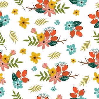 植物とのシームレスなパターン