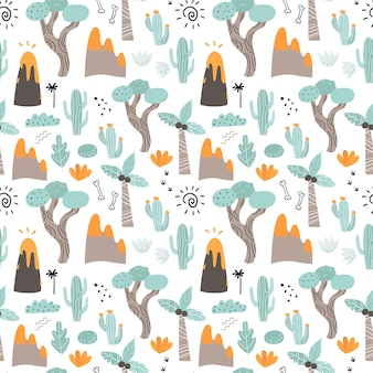 Seamless pattern with plants.