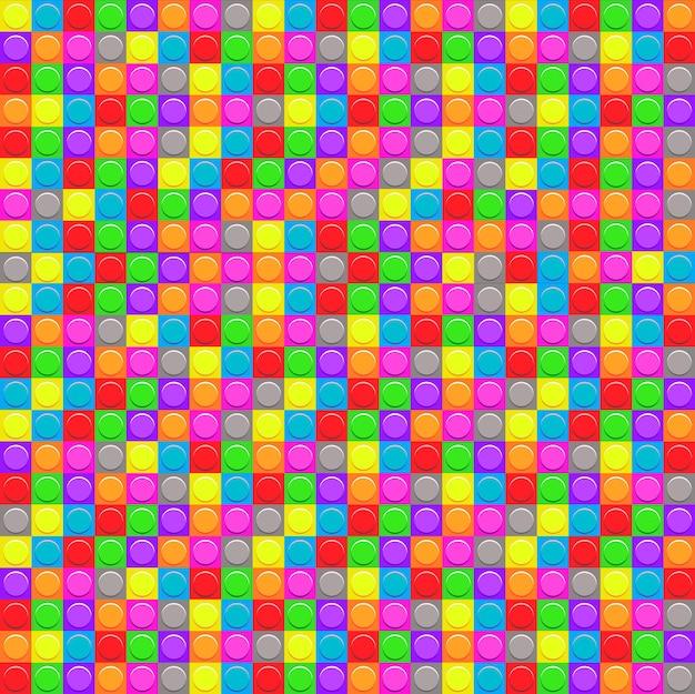 プラスチック製の構造ブロックとのシームレスなパターン。